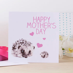 Happy Mother's Day Hedgehog Card - Olivia Morgan Ltd