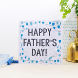 Happy Father's Day Patterned Card - Olivia Morgan Ltd