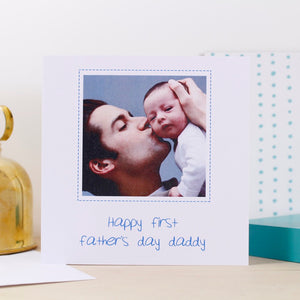First Father's Day Personalised Photo Card - Olivia Morgan Ltd