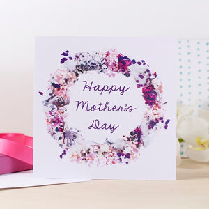 Happy Mother's Day Wreath Card - Olivia Morgan Ltd