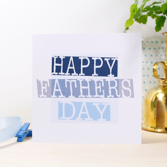 Happy Father's Day Stamped Style Card - Olivia Morgan Ltd