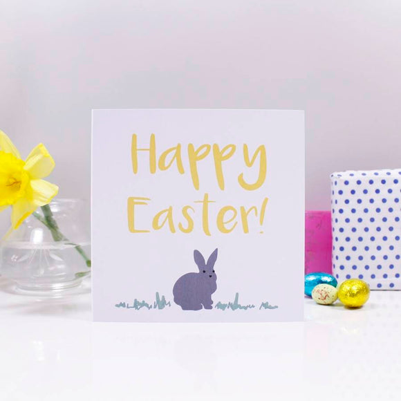 Happy Easter Bunny Easter Card - Olivia Morgan Ltd