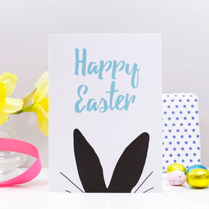 Happy Easter Rabbit Ears Card - Olivia Morgan Ltd