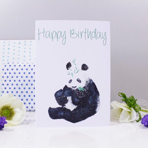 Happy Birthday Panda Card - Olivia Morgan Ltd