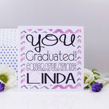 Congratulations Graduation Personalised Card - Olivia Morgan Ltd