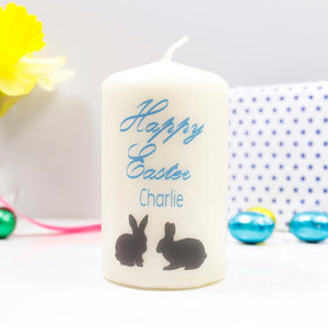 Easter Bunnies Personalised Candle - Olivia Morgan Ltd