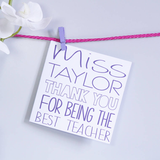 Teacher Thank You Card - Olivia Morgan Ltd