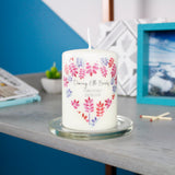 Floral Christening Personalised Candle Keepsake - Olivia Morgan Ltd