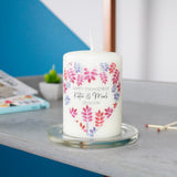 Floral Engagement Personalised Candle Gift - Olivia Morgan Ltd