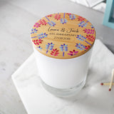Couples Anniversary Scented Candle With Floral Lid - Olivia Morgan Ltd