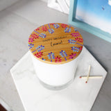 Birthday Scented Candle With Floral Lid - Olivia Morgan Ltd