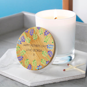 Floral Lid Mother's Day Luxury Scented Candle - Olivia Morgan Ltd