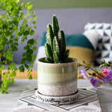 Hand Glazed Plant Pot For Teachers - Thank you Gift