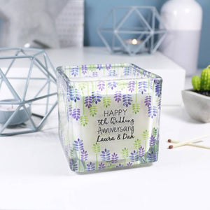 Anniversary Personalised Scented Square Candle - Olivia Morgan Ltd