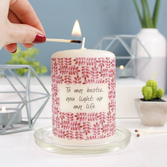 Best Friend Personalised Candle - Olivia Morgan Ltd