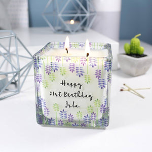 Birthday Scented Square Candle For Her - Olivia Morgan Ltd