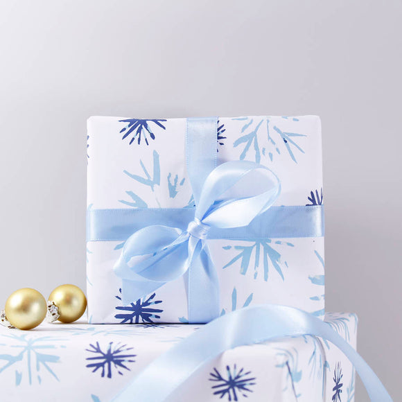 Snowflake Eco Friendly Christmas Wrapping Paper - Olivia Morgan Ltd