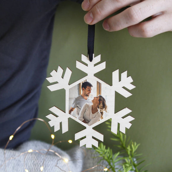 Couples Photograph Christmas Hanging Decoration - Olivia Morgan Ltd