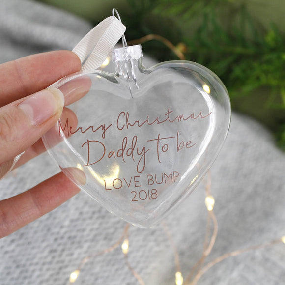 Daddy To Be Christmas Bauble Decoration - Olivia Morgan Ltd