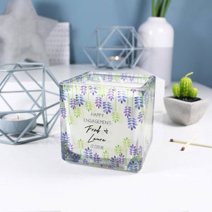 Engagement Personalised Scented Square Candle - Olivia Morgan Ltd