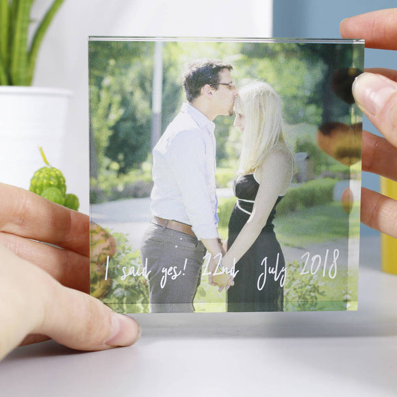 Proposal Acrylic Block Photograph Print - Olivia Morgan Ltd
