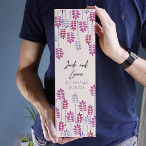 Engagement Personalised Wine Bottle Box - Olivia Morgan Ltd