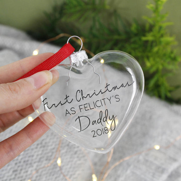 First Christmas As A Daddy Christmas Bauble - Olivia Morgan Ltd