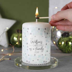 First Christmas As A Family Snowflake Candle - Olivia Morgan Ltd