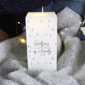 First Christmas As A Family Snowflake LED Candle - Olivia Morgan Ltd