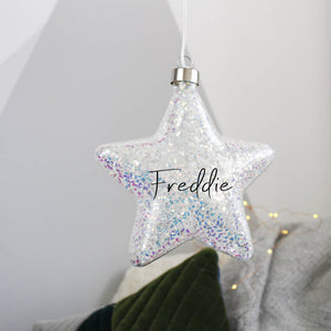 Christmas Star Hanging Decoration Light Bauble - Olivia Morgan Ltd