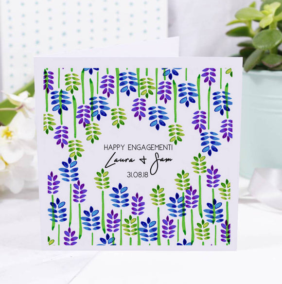 Floral Engagement Personalised Card - Olivia Morgan Ltd