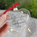 Grandparents First Christmas Bauble Keepsake - Olivia Morgan Ltd