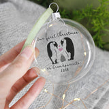 Grandparents First Christmas Penguin Bauble Keepsake - Olivia Morgan Ltd