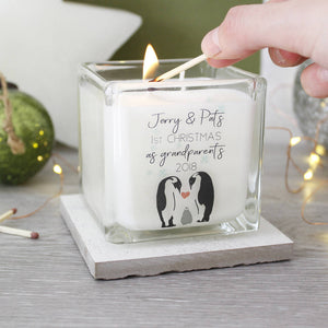 Grandparents First Christmas Penguin Scented Candle - Olivia Morgan Ltd