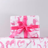 Heart Pattern Eco Friendly Wrapping Paper - Olivia Morgan Ltd