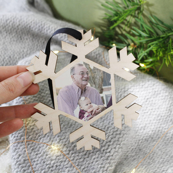 Memory Photograph Christmas Hanging Decoration - Olivia Morgan Ltd