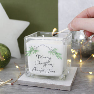Merry Christmas Mistletoe Scented Candle For Family - Olivia Morgan Ltd