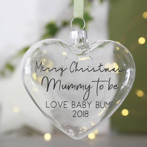 Mummy To Be Christmas Bauble Decoration - Olivia Morgan Ltd