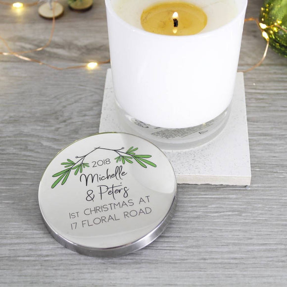 New Home Christmas Scented Candle With Lid - Olivia Morgan Ltd