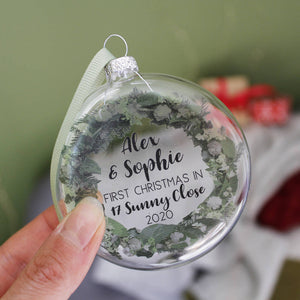 New Home Wreath Christmas Bauble Decoration