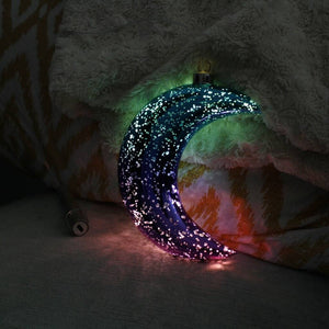 Rainbow Ombre Personalised LED Hanging Moon Light - Olivia Morgan Ltd