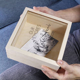 Anniversary Perspex Wooden Keepsake Box - Olivia Morgan Ltd