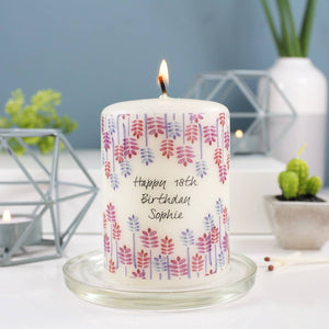 Birthday Personalised Candle - Olivia Morgan Ltd
