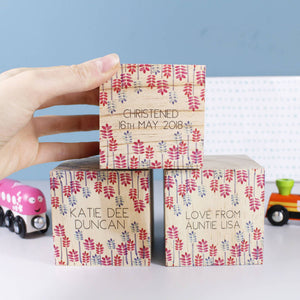 Christening Personalised Building Block Set - Olivia Morgan Ltd