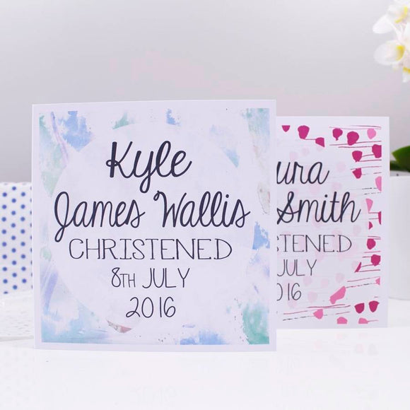 Christening Personalised Card For Boys And Girls - Olivia Morgan Ltd