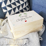 Christmas Eve Personalised Wooden Keepsake Box - Olivia Morgan Ltd