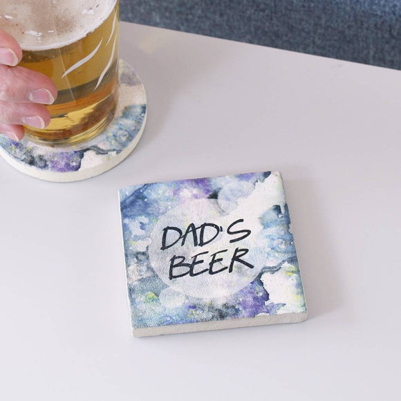Dad's Drink Personalised Coaster - Olivia Morgan Ltd