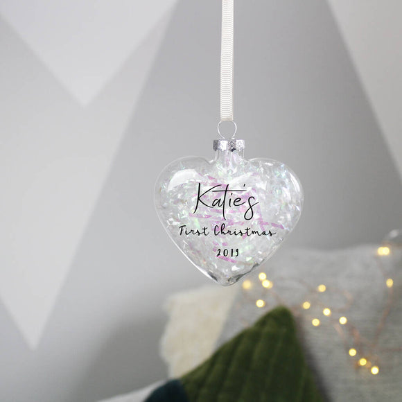 First Christmas Filled Bauble Decoration - Olivia Morgan Ltd