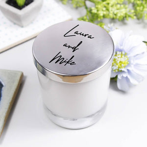 Couples Personalised Candle With Lid - Olivia Morgan Ltd