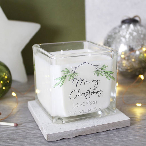 Merry Christmas Family Scented Personalised Candle - Olivia Morgan Ltd